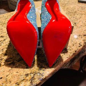 Christian Louboutin Shoes - Christian Louboutin So Kate 120 Glitter Dragonfly